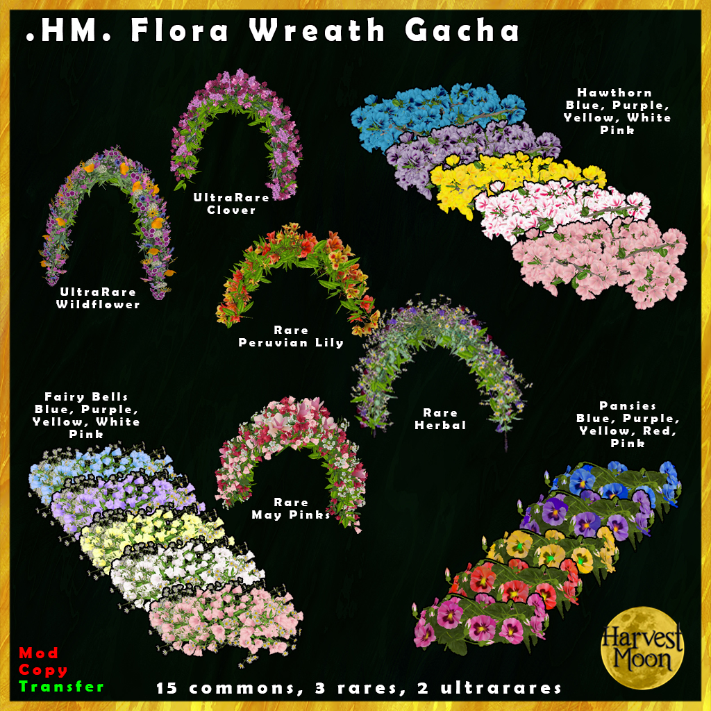Harvest Moon – Gacha – Flora Head Wreath