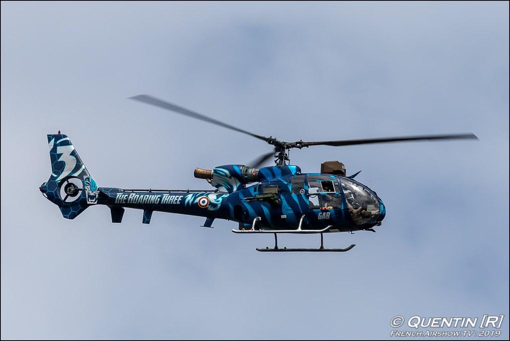 SA 342 M Gazelle Escadrille d'Helicopteres de Reconnaissance et d'Attaque 3 ALAT Nato Tiger Meet 2019 BA118 de Mont de Marsan Canon Sigma France French Airshow TV photography Airshow NTM 2019
