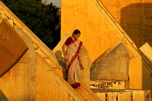 Jantar Mantar.  The garden of astronomical instruments. Jaipur. Rajasthan. India.