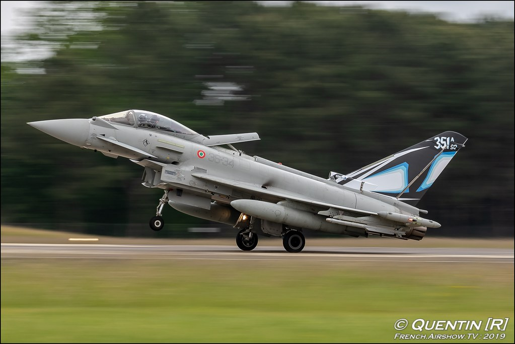 EF2000 Typhoon XII Gruppo Italian Air Force Nato Tiger Meet 2019 BA118 de Mont de Marsan Canon Sigma France French Airshow TV photography Airshow NTM 2019