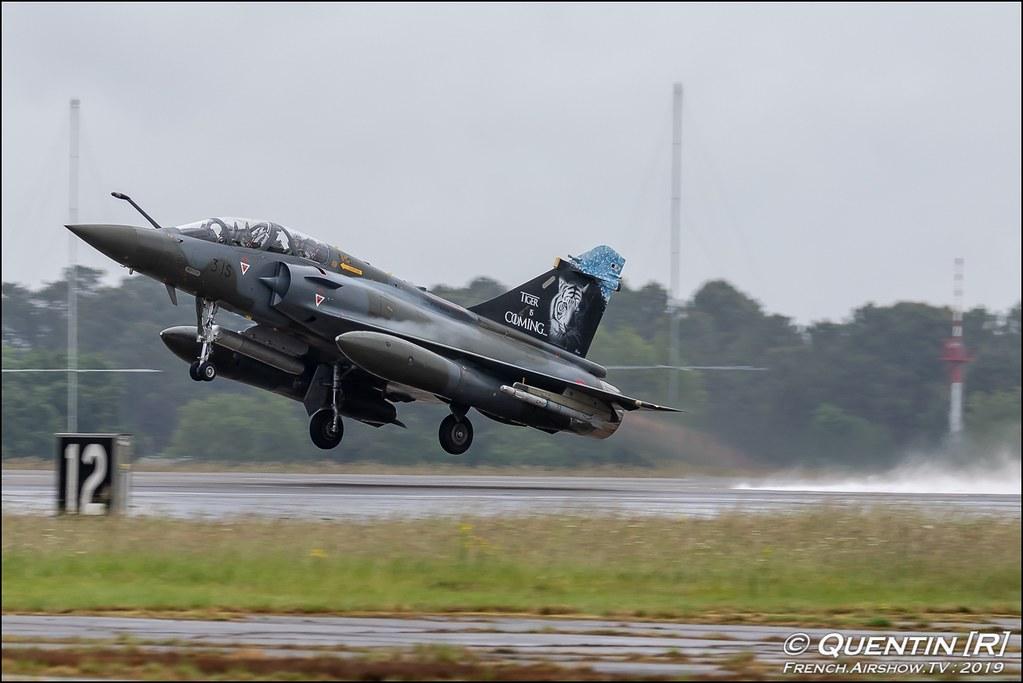 Mirage 2000D Escadron de Chasse et d'Experimentation 1/30 Cote d'Argent French Air Force Nato Tiger Meet 2019 BA118 de Mont de Marsan Canon Sigma France French Airshow TV photography Airshow NTM 2019