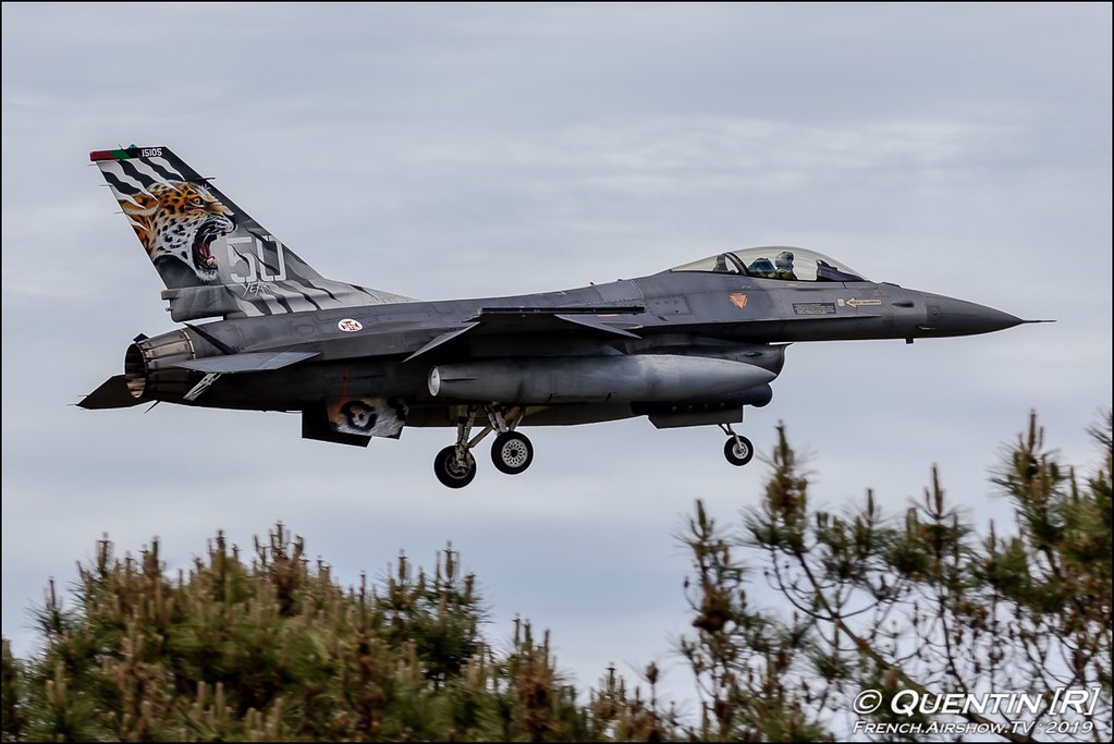 F-16A/B MLU Fighting Falcon esquadra 301 Portugees Air Force Nato Tiger Meet 2019 BA118 de Mont de Marsan Canon Sigma France French Airshow TV photography Airshow NTM 2019