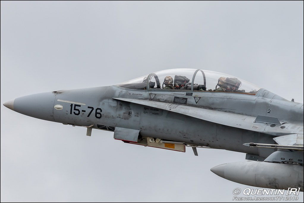 EF-18 Hormet Ala 15 Spanisch Air Force Nato Tiger Meet 2019 BA118 de Mont de Marsan Canon Sigma France French Airshow TV photography Airshow NTM 2019