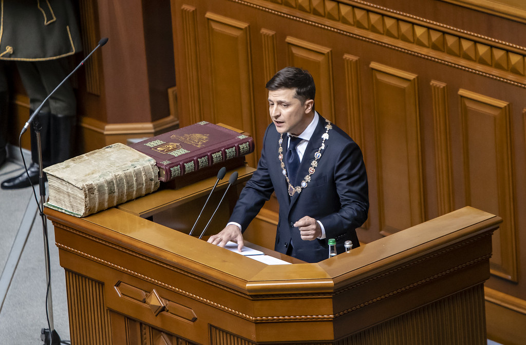 On May 20, during the solemn session of the Verkhovna Rada in Kyiv, newly elected President of Ukraine Volodymyr Zelensky was sworn in as Head of State