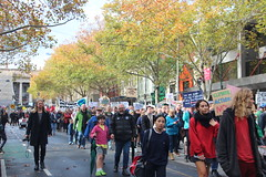 Melbourne solidarity rally for global #climatestrike - leaving parliament down Bourke Street - IMG_4635