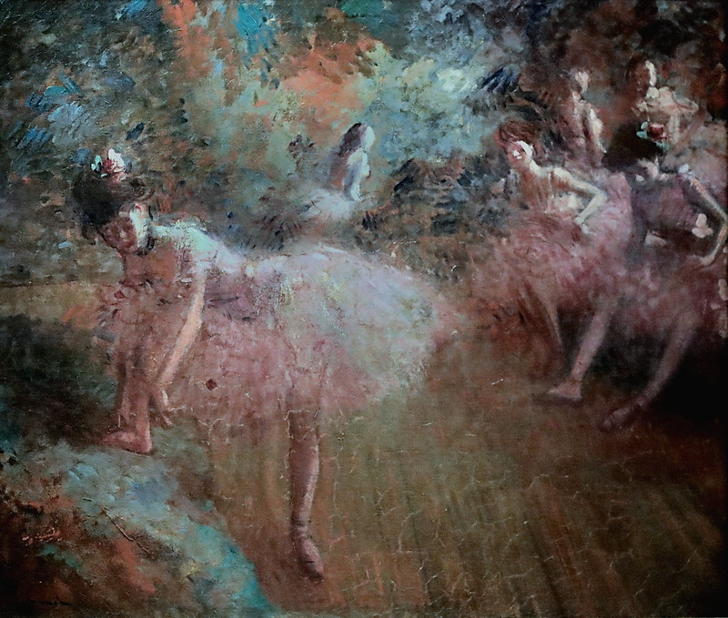 IMG_2087O Jean Louis Forain  1852-1931 Paris Danseuses en rose Dancers in pink 1905 Madrid  Musée Thyssen Bornemisza