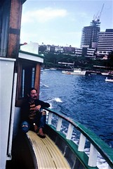 Me cruising on the Sydney Harbour ferry, 1971
