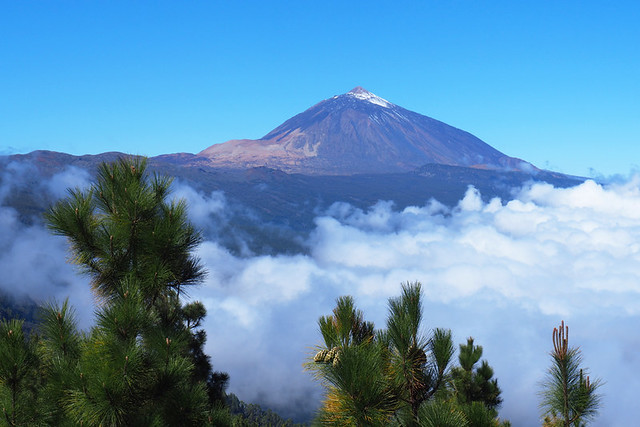 Mount Teide and sea of clouds, La Laguna route, Tenerife