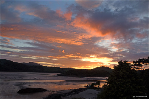 sunset scotland kippford urrwater