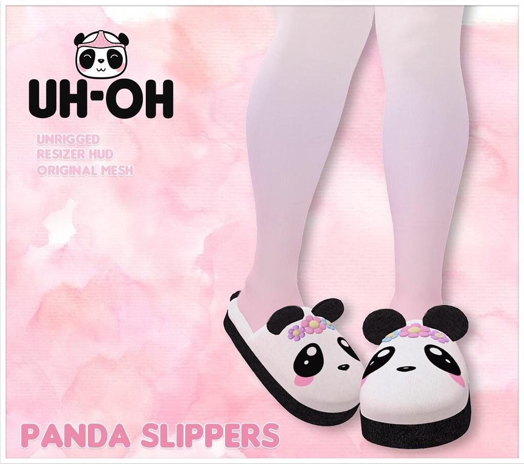uh-oh: Panda Slippers @ Sanarae