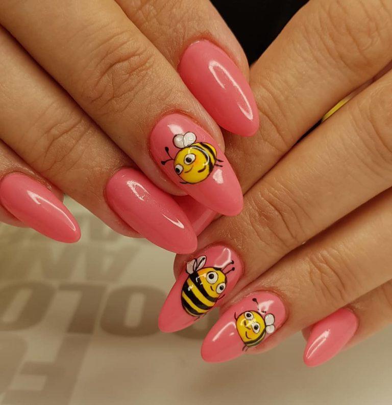 26 Cute Bee Nail Art Designs For Summer 2019 Fashionre