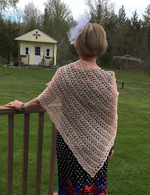 Natalie's Perseids by Susanna IC knit using Manos Fino in Rosewater