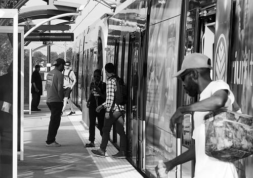36th Street Train B W