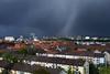 Sturm über den Dächern von Karlsruhe
