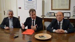 Da sinistra - Il dott. Fantetti, il Commissario Cantadori e il dott. Giangrande