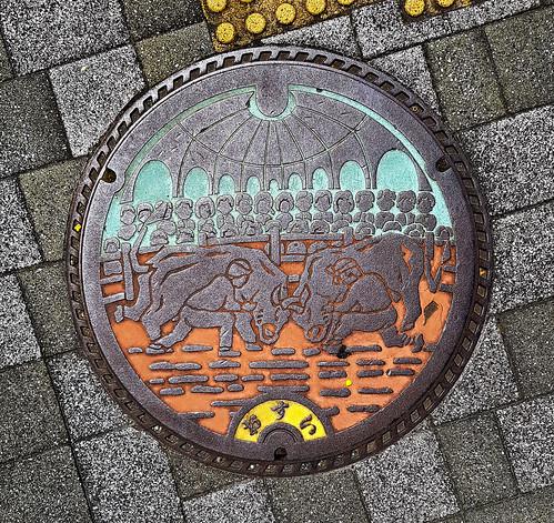 uwajima 宇和島市 ehimeprefecture shikoku 四国 愛媛県 松山市 日本 japan colour manhole cover 4月 四月 卯月 shigatsu uzuki unohanamonth 2019 平成31年 spring april bicycletriparoundshikoku