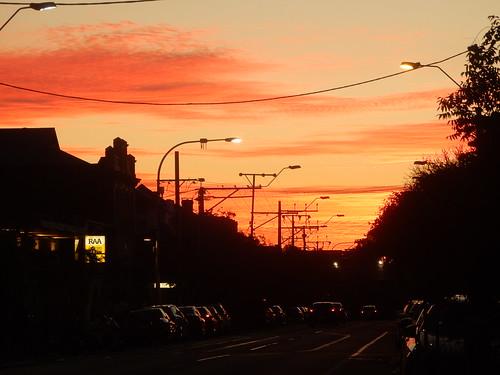 sunset suburban glow silhouettes adelaide