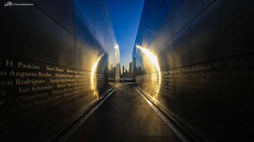 new york newyork nyc twin towers memorial color sky landscape
