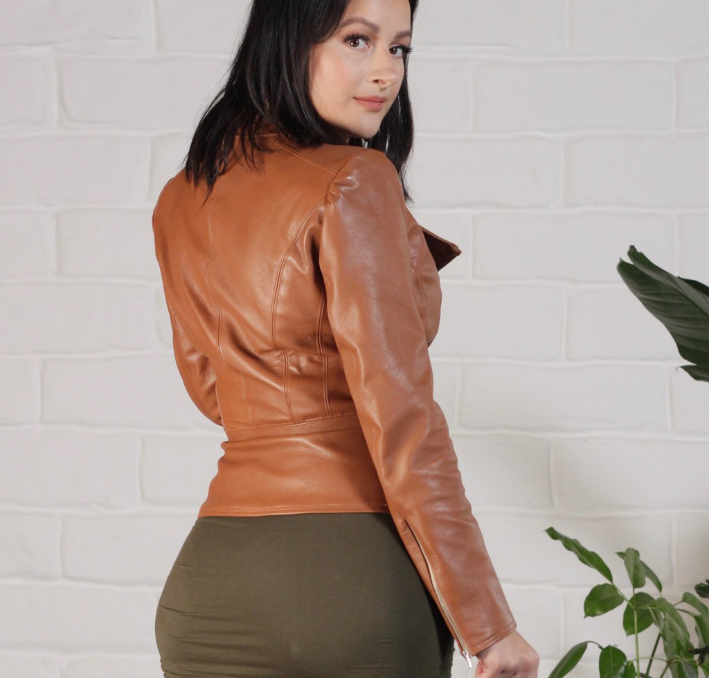 Julia Bobbin - Brown Leather Jacket