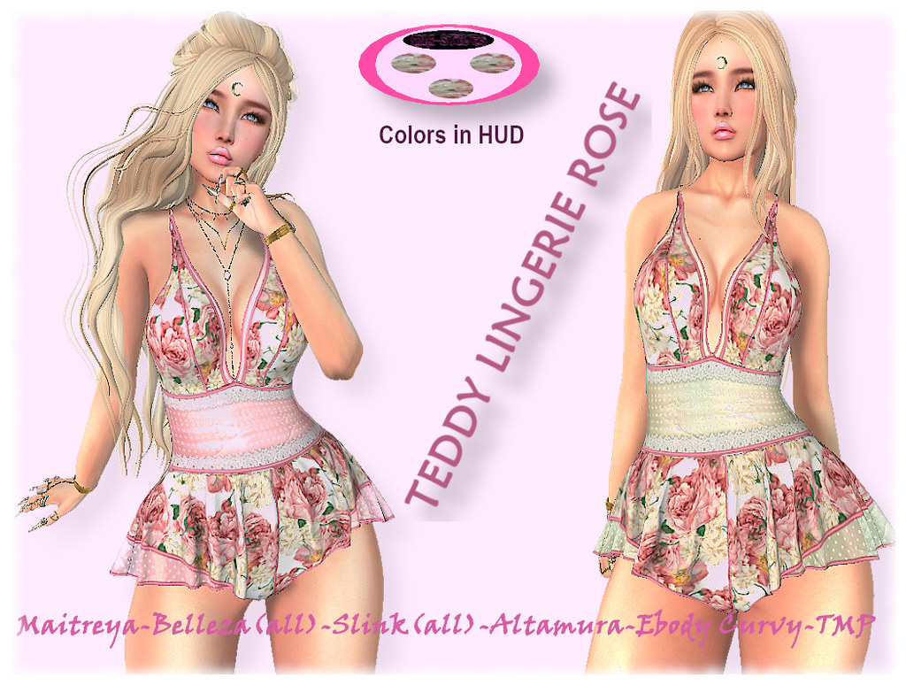 MS-TEDDY LINGERIE ROSE