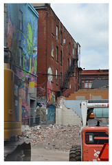 Graffiti Alley demolition