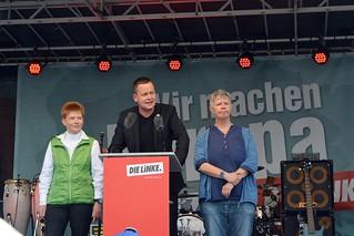 Petra Pau, Klaus Lederer und Katina Schubert