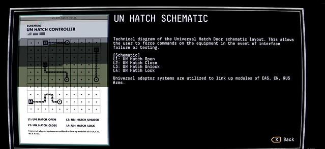 관측 - UN 해치 컨트롤러