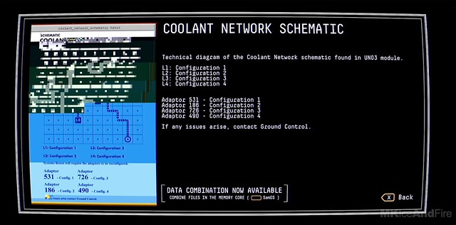 Observation - Coolant Network Schematic