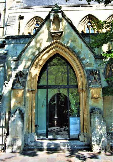 The Entrance To All Saints' Church, Notting Hill - London.