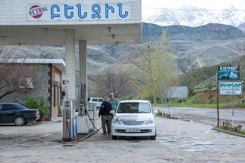 на машине по Армении