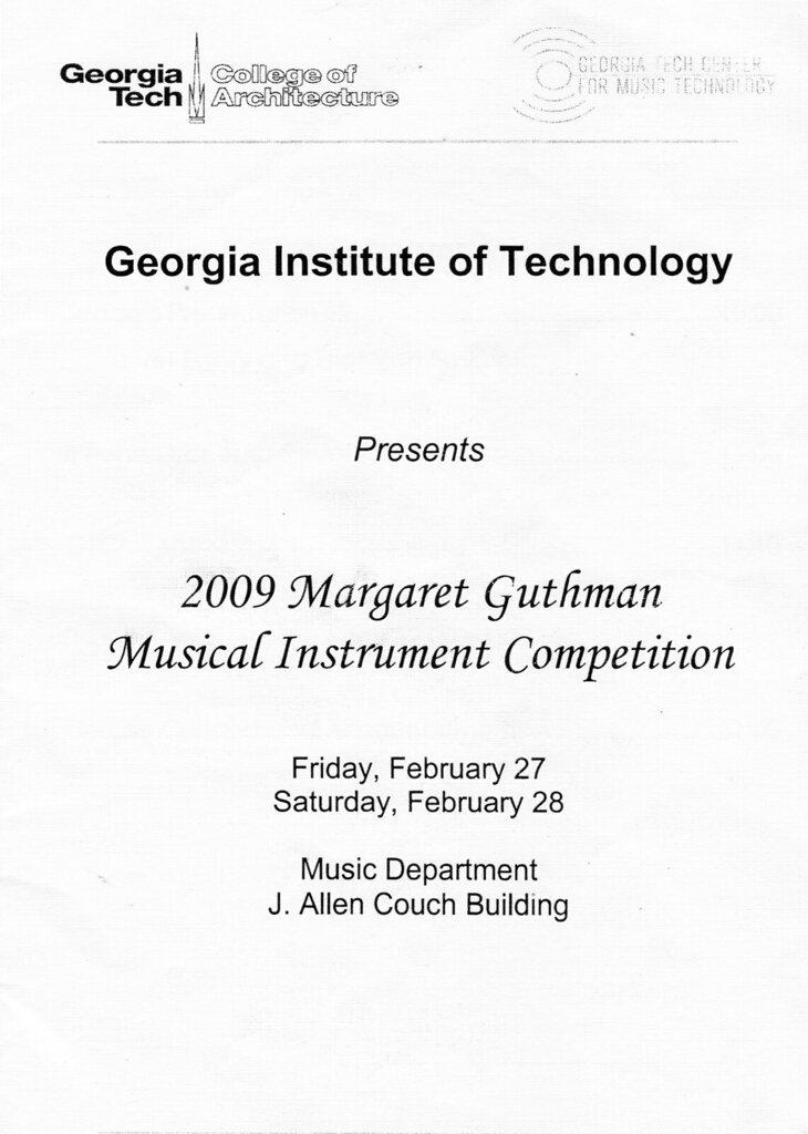 Guthman Instrument Competition