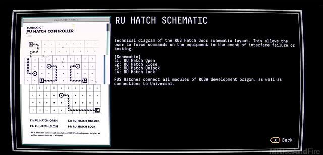 관측 - RU 해치 개략도