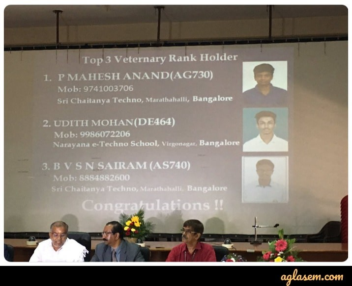 Jeffin Biju, Keerthana M Arun, P. Mahesh Anand Secures Rank 1 in KCET 2019