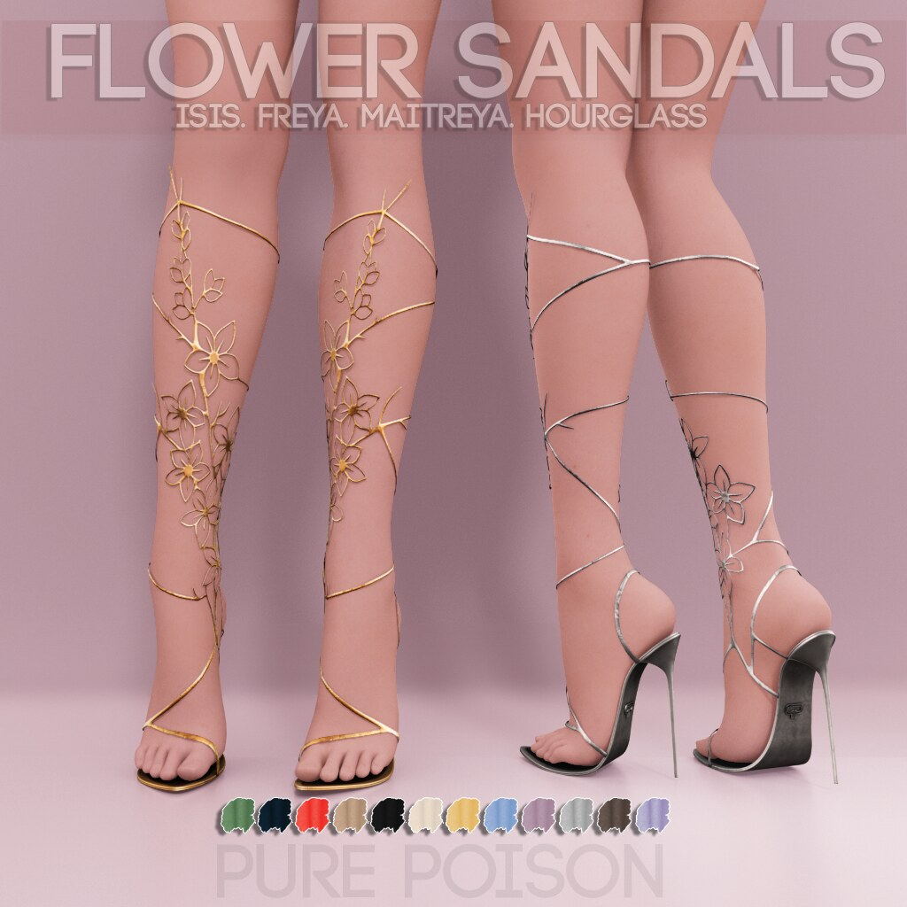 Pure Poison – Flower Sandals AD