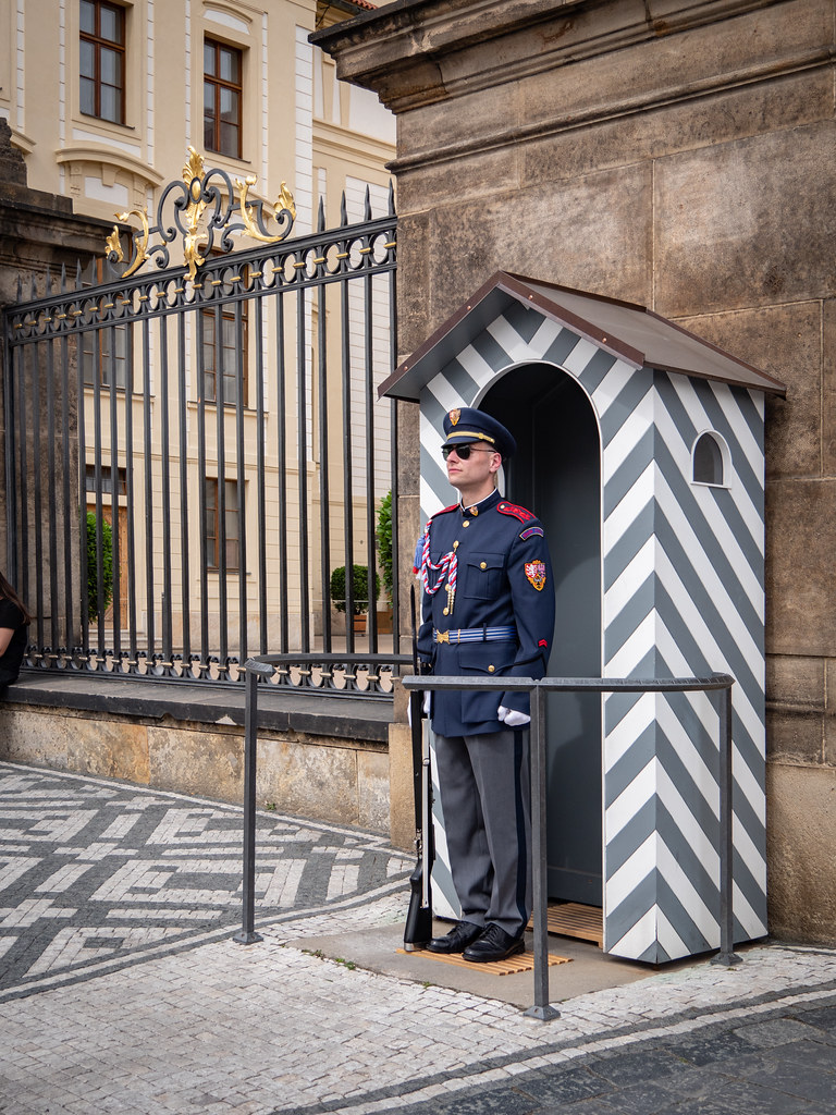 La garde du château de Prague... 47927933272_269ca5211e_b