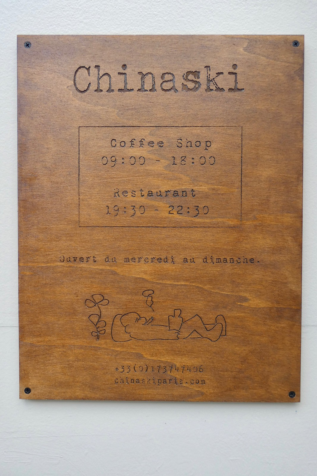 Restaurant Chinaski, Paris