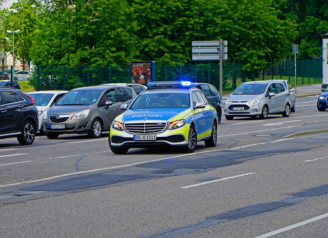 New Mercedes-Benz E-class Highway Patrol Saxony State Police