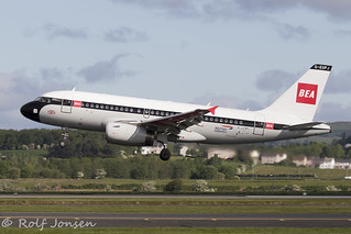 G-EUPJ Airbus A319 British Airways Glasgow airport EGPF 24.05-19