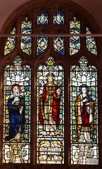 Christ in Majesty flanked by Blessed Virgin and St John (Powell & Sons)