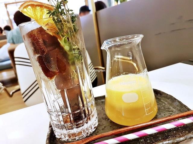 Orange Yuzu Passionfruit Coffee Cubes Latte