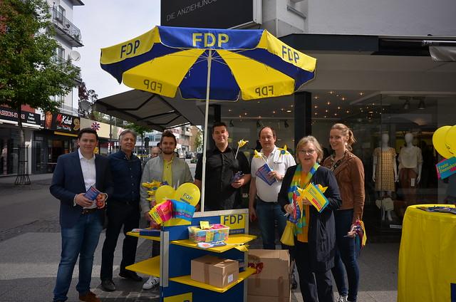 Wahlkampfendspurt zur Europawahl in Eschweiler
