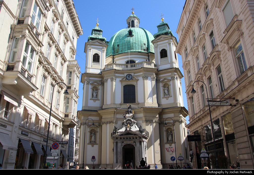 Peterskirche seen from Graben, Vienna, Austria