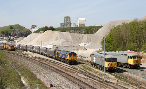 66771 Class 66 with 66781, 56098 & 56081