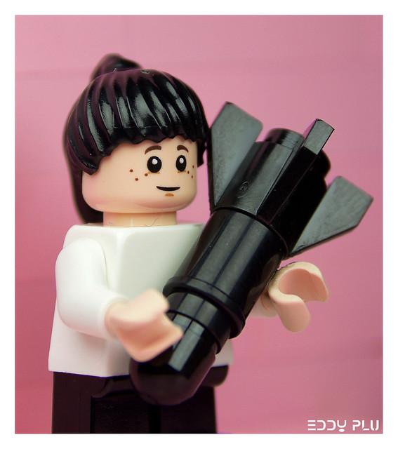 Lego Banksy Bomb Hugger