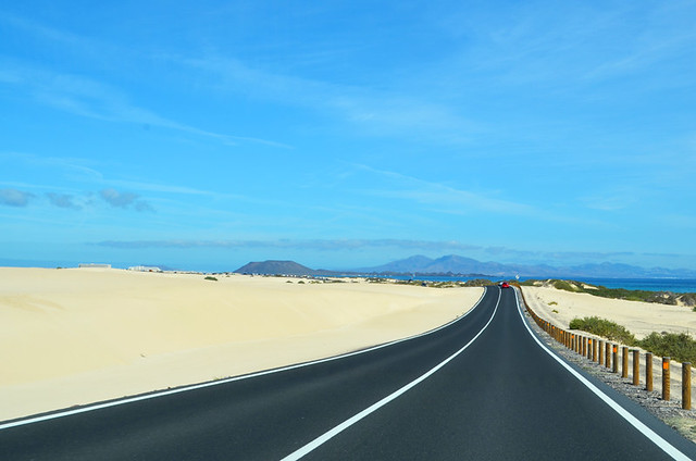 Driving on Fuerteventura