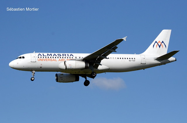 320.232 ALMASRIA UNIVERSAL AIRLINES SU-TCF 1561 EX 9V-SLE SILKAIR FLIGHT LMU3002 FROM ERBIL IN IRAK 22 05 19 TLS