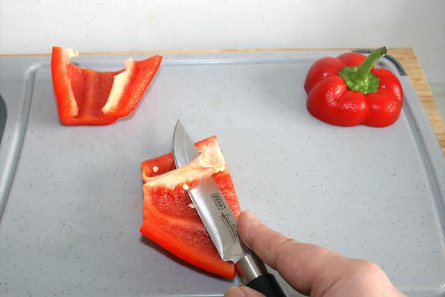 03 - Paprika entkernen / Decore bell pepper