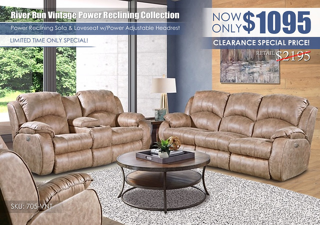 River Run Vintage Power Reclining Set_Special_705_ClearanceNEW