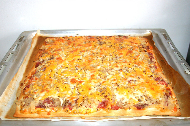 13 - Reuben Pizza - Finished baking / Fertig gebacken