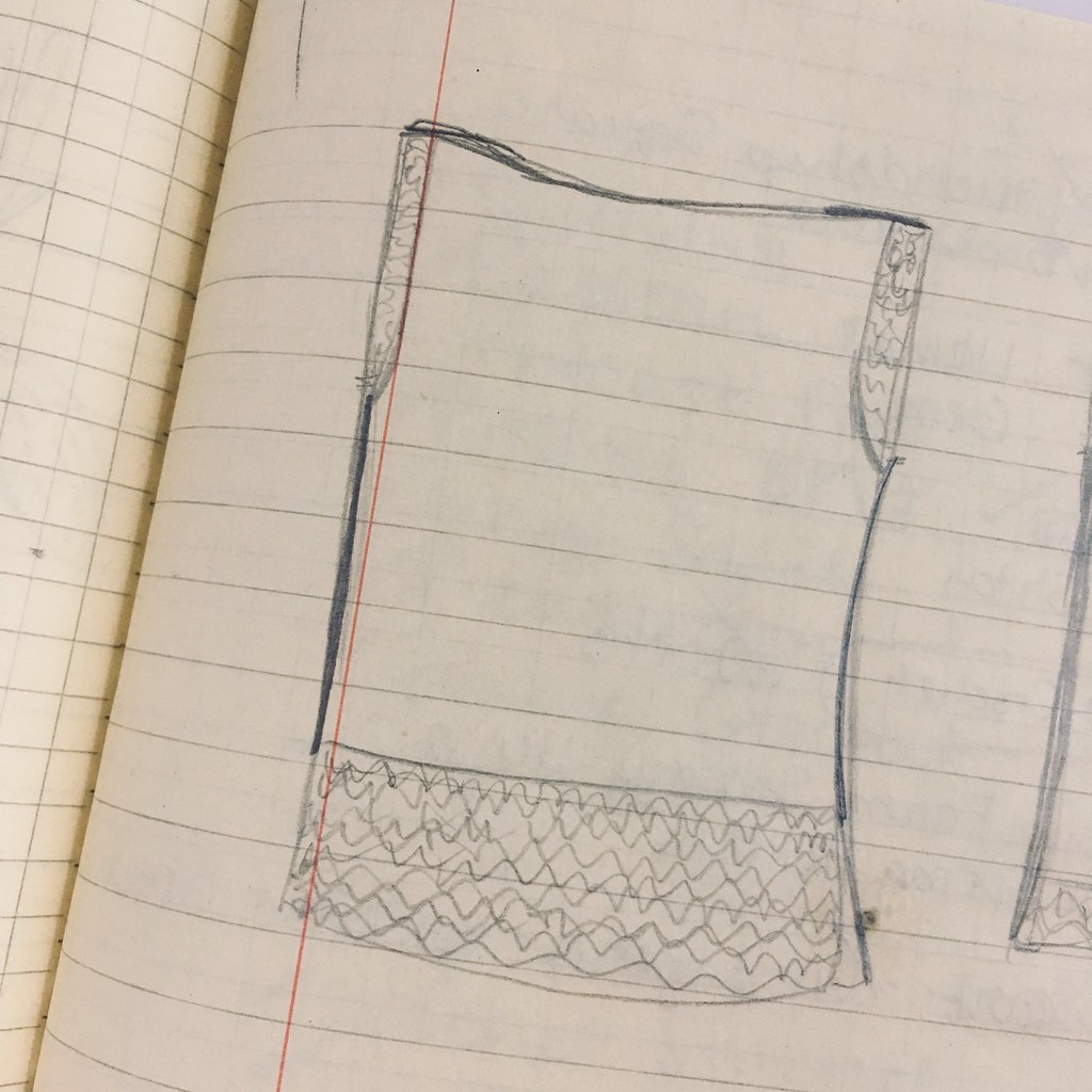 Graceful Waves Tunic Sweater Sketch